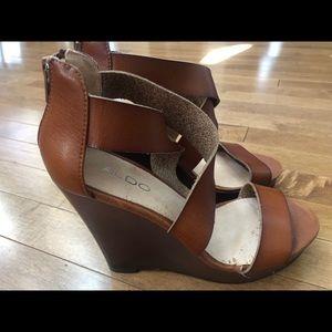 Aldo Wedge Sandal Size 38 - 8
